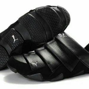 Puma Satori Mens Leather Slip On Trainers / Shoes